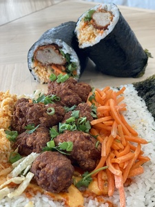 FIRE CHICKEN SUSHI BURRITO [SESAME]